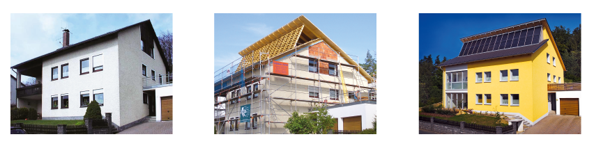 Altbau-Solarisierung mit Firstverlängerung - Bild: Sonnenhaus-Institut, Architekturbüro Dirschedl