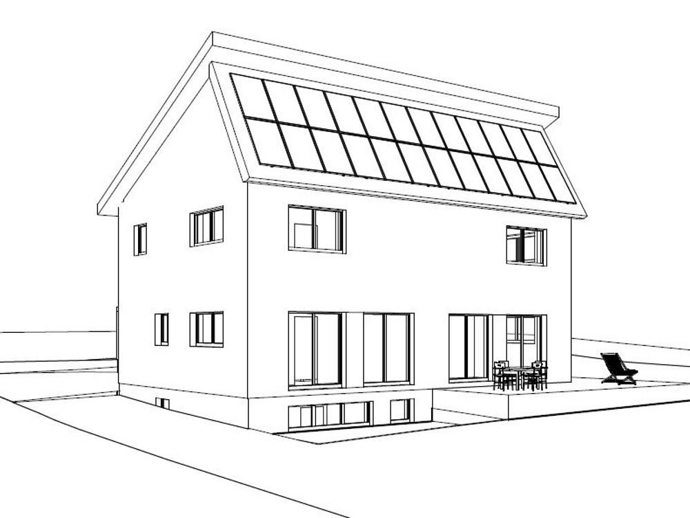 neubau eines einfamilien sonnenhauses in rheden anja machnik. Black Bedroom Furniture Sets. Home Design Ideas