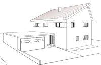 Neubau eines Einfamilien-Sonnenhauses in Rheden